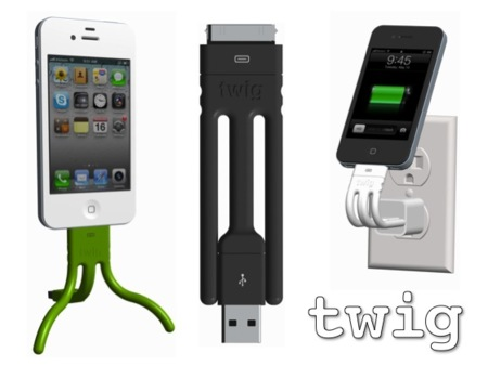 Twig: cable + soporte para el iPhone