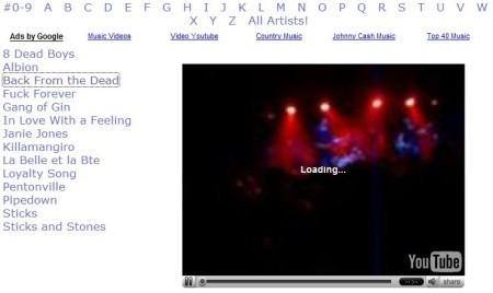 Vídeos musicales en Youtube
