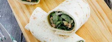 Burritos de atún picante y aguacate: receta fácil y saludable