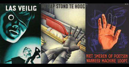 Con estos carteles constructivistas holandeses de los años 20 es imposible olvidarse de la seguridad laboral