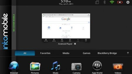 El Android App Player de BlackBerry PlayBook se filtra, lo vemos en vídeo