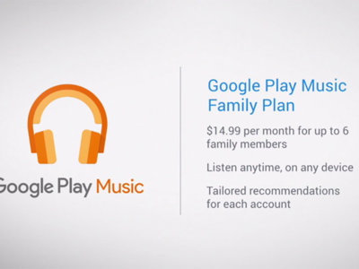 Google Play Music anuncia su nuevo Plan familiar para competir contra Apple y Spotify