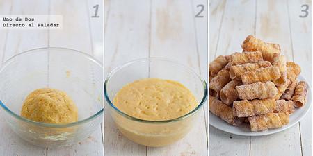 Las recetas de nuestras madres: Cañas fritas rellenas de crema paso a paso