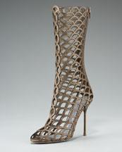 Scalloped Cage Boots de Sergio Rossi