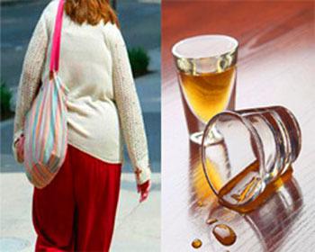 ¿Está realmente el alcohol relacionado con el aumento de peso?