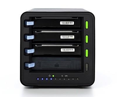 Drobo, discos duros conectados y desconectados en caliente