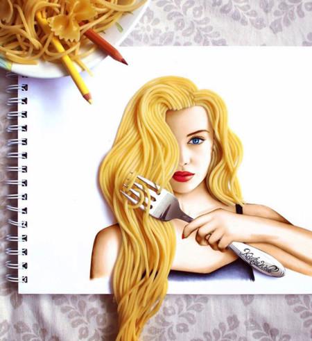 Esta artista de 20 años nos muestra la sinergía perfecta entre objetos reales y dibujos