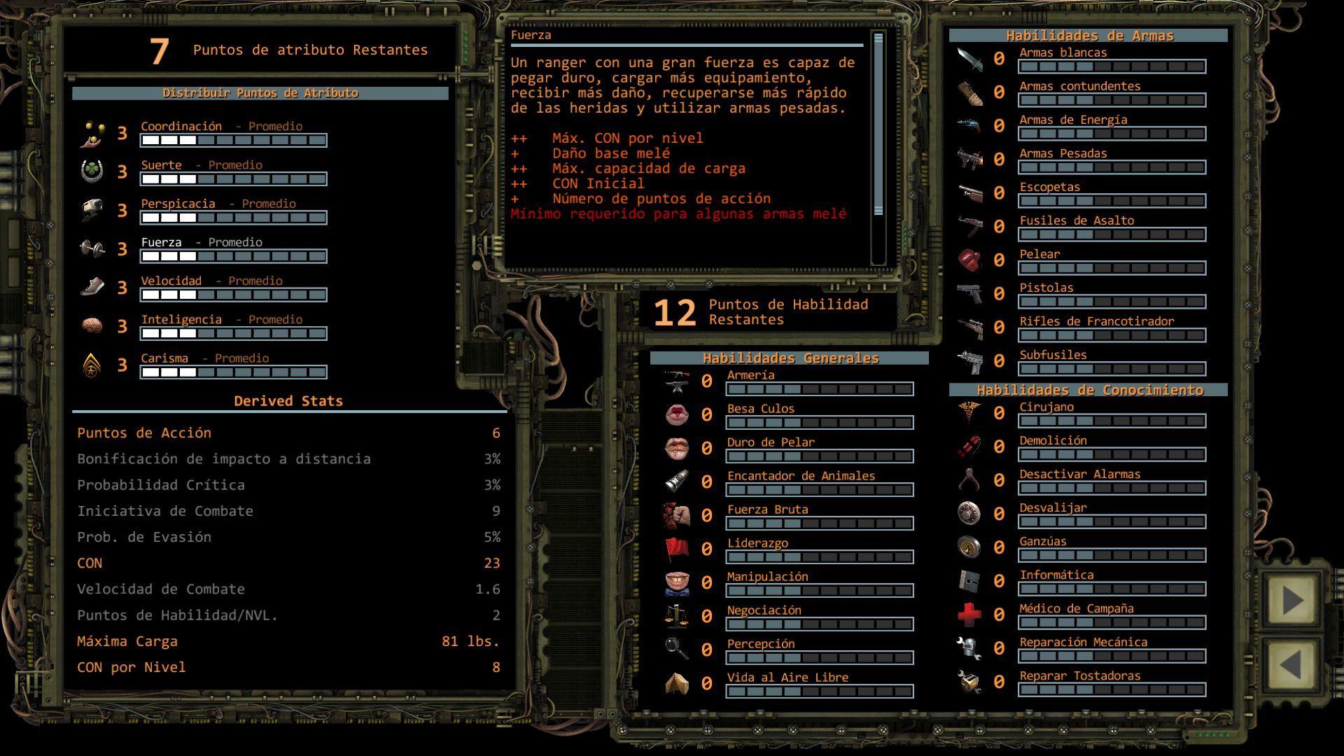 Foto de Distribución de puntos de Atributo en Wasteland 2 (6/11)