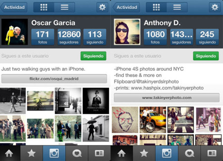 perfiles en instagram