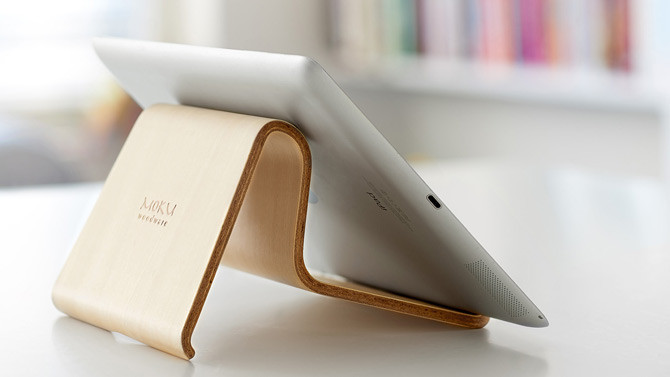 Moku Desktop Chair, minimalista soporte universal para tu iPad y Macbook