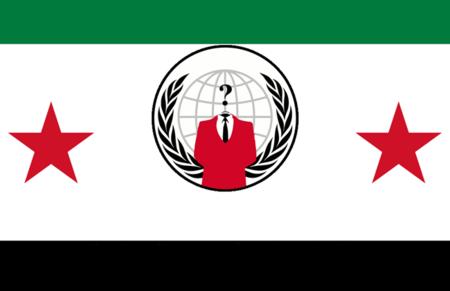 Anonymous en el frente sirio