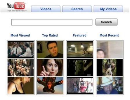 Youtube adapta su interfaz a los televisores