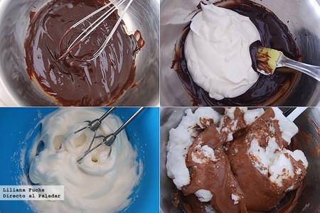 Mousse de chocolate especiada. Receta de postre