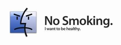 """Cartel de """"No fumar"""", con el icono del Finder"""
