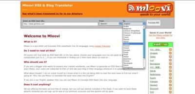Mloovi, traducciones de los contenidos de los canales RSS