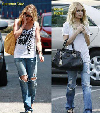 ¿Vuelven los rotos en los jeans?