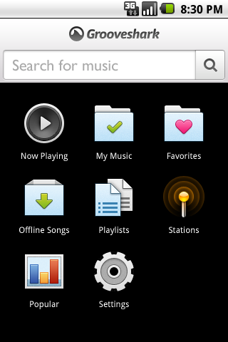 Grooveshark lanza una nueva actualización para Android con acceso a nuestros favoritos