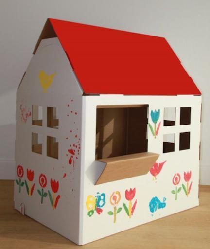 casita juguete carton para pintar