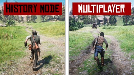 Así luce Red Dead Online frente a Red Dead Redemption 2