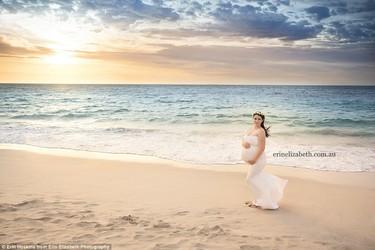 Bellísimas fotos de una madre embarazada de quintillizos