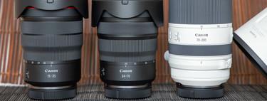 Canon RF 15-35 mm, RF 24-70 y RF 70-200 mm f/2,8, análisis: un kit completo para seducir a los profesionales