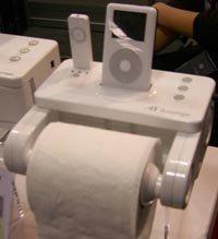 Dock station del iPod para el baño