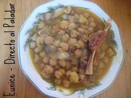 Cocina canaria: Garbanzas. Receta