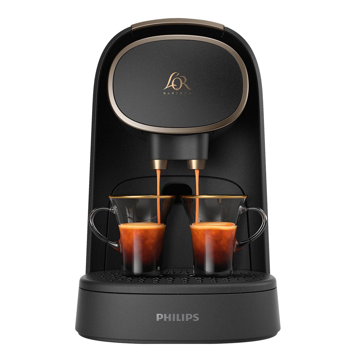 Cafetera espresso automática Philips L'OR Barista System Premium LM8016/90 para cápsulas L'OR y Nespresso