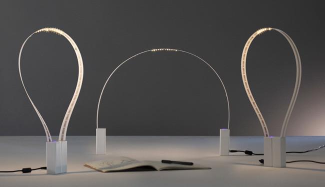Fluida, la lámpara LED flexible