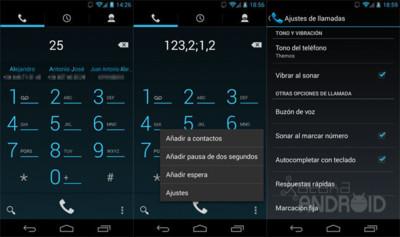 Android 4.3 te deja autocompletar en la marcación telefónica