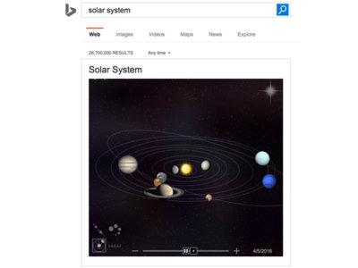 Bing apuesta por un tono educativo al ofrecer llamativas simulaciones y animaciones en las búsquedas