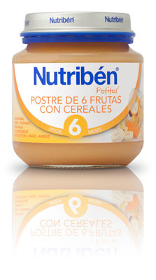 Postre 6 Frutas Cereales 6m 130gr Frontal 3557 111700