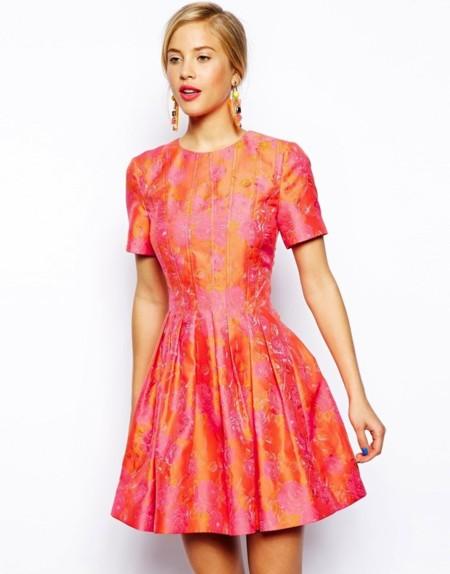 vestido jacquard asos salon