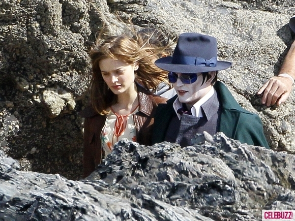 Foto de 'Dark Shadows', fotos de Johnny Depp en el rodaje (1/4)