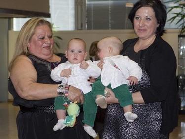 Marta y Nuria, las siamesas unidas por el abdomen que fueron separadas