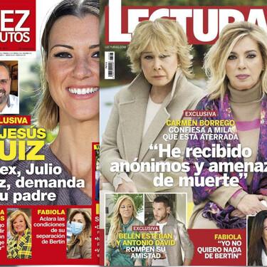 Carmen Borrego amenazada de muerte, Isa Pantoja defiende a su madre y Rafael Amargo zapatea en la cara a María Patiño: Estas son las portadas de la semana del 27 de enero