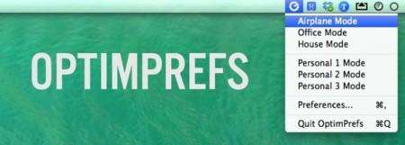 OptimPrefs, establece configuraciones según ubicaciones en tu Mac