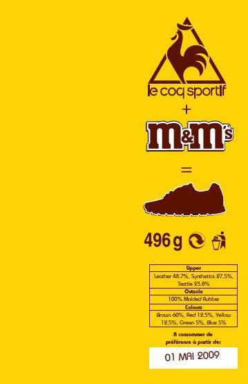 caja Le Coq m&Ms