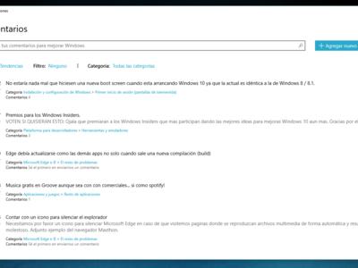 ¿No te gusta Windows 10? Microsoft quiere saber por qué habilitando para todos su Feedback Hub