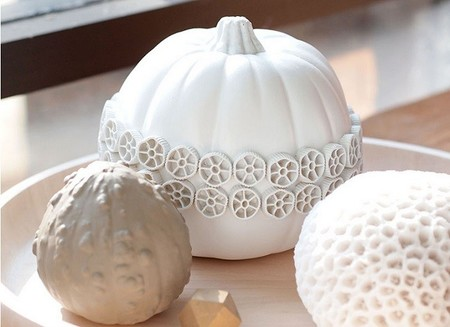 Calabazas con texturas, más allá de Halloween