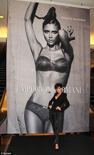 Nueva y sensual imagen de Victoria Beckham para Armani