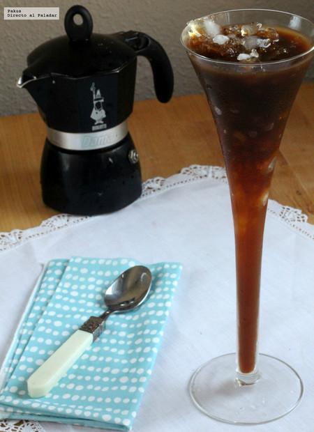 Refrescante granizado de café. Receta
