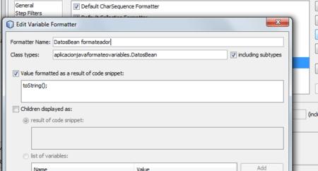 Asignando un formateador de variable y el método correspondiente