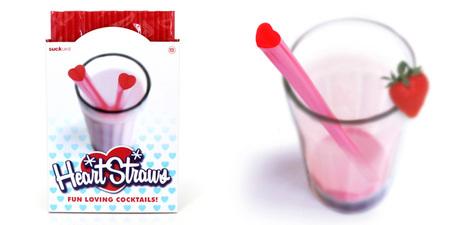 Pajitas con forma de corazón, imprescindibles para San Valentín