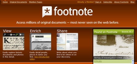 Footnote, documentación social
