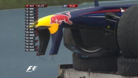 GP de Turquía F1 2011: ¿el secreto de la flexibilidad del alerón delantero del Red Bull RB7 al descubierto?