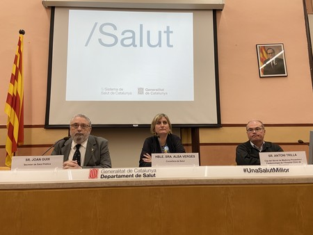Foto de la rueda de prensa del Departament de Salut de Cataluña