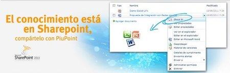 PiuPoint, creado para utilizar SharePoint como una red social en la empresa