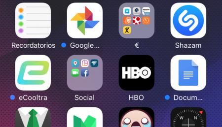 ¿Quieres saber qué aplicaciones de iOS llevas mucho tiempo sin usar? Busca un punto azul en su nombre