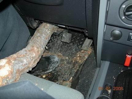 Jeep Wrangler árbol castrado
